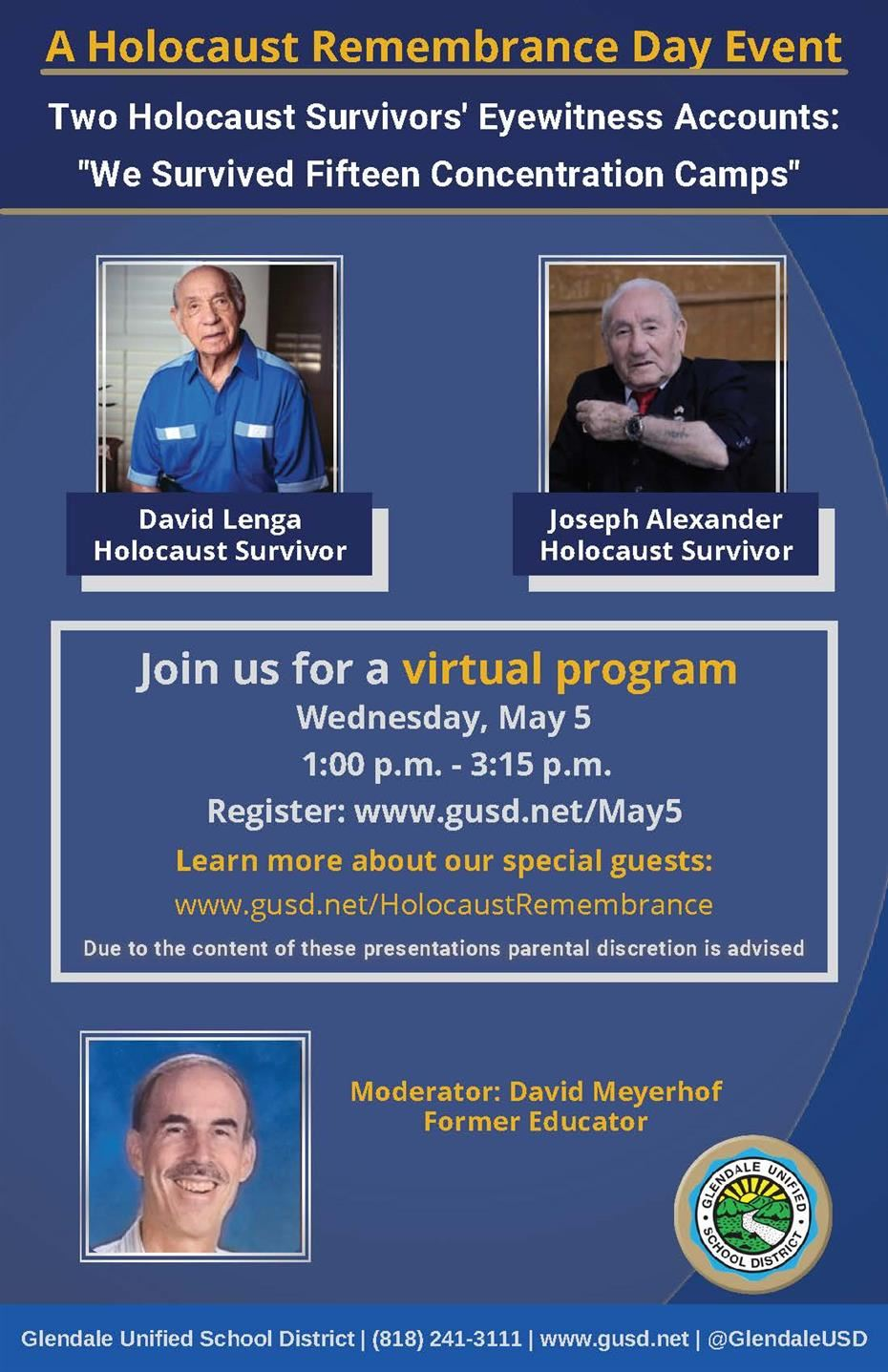 Register for our Holocaust Remembrance Day Virtual Program