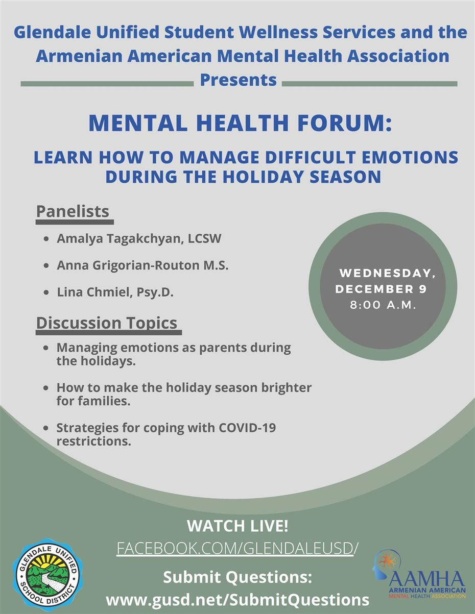 Managing Emotions for the Holiday Season Forum