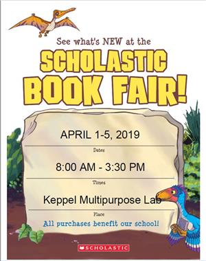Book Fair April 1-5, 2019
