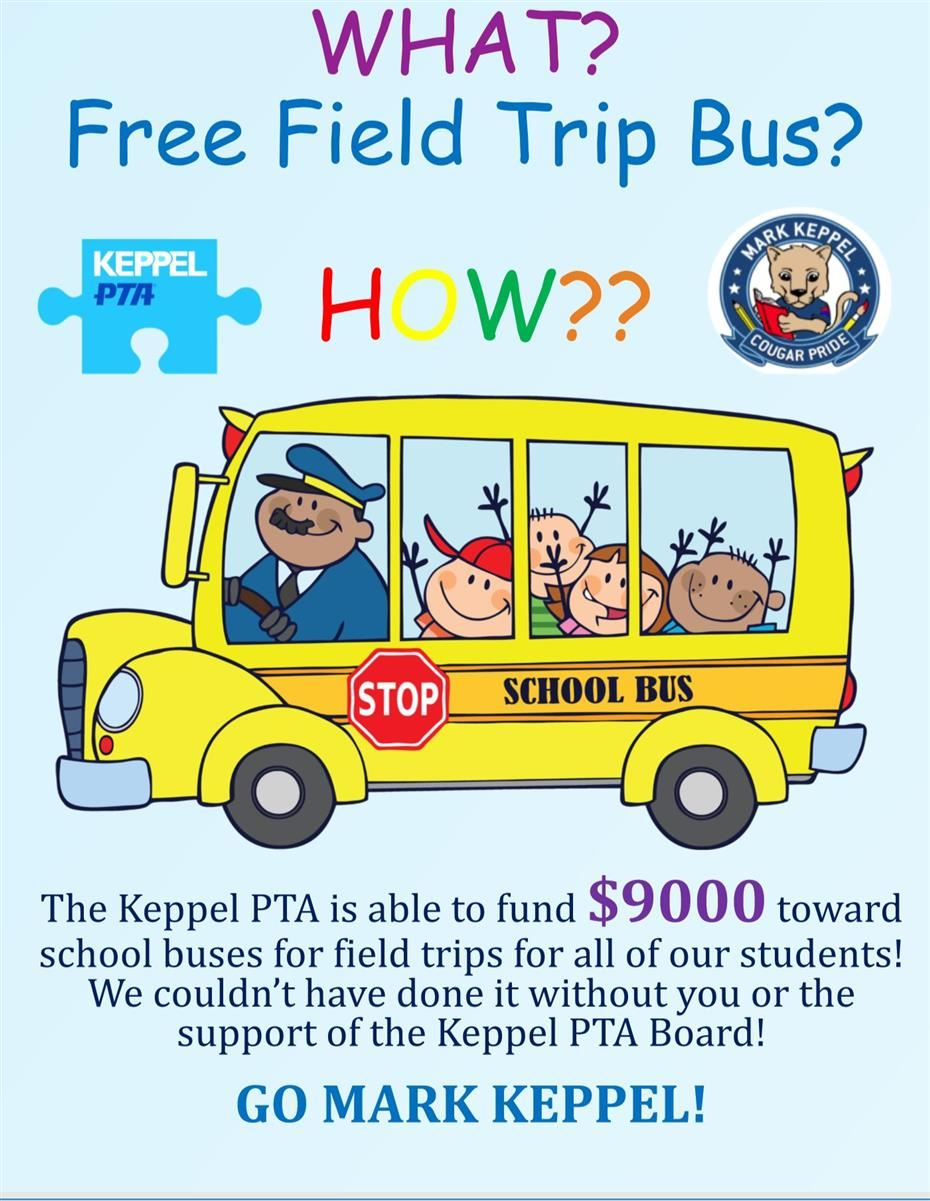 Free School Bus for Class Field Trips