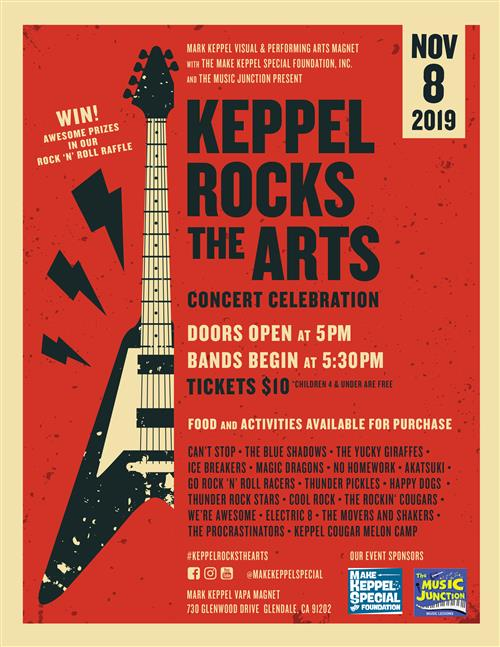 Keppel Rocks The Arts 11/9/2019 Click Here for Tickets and Information