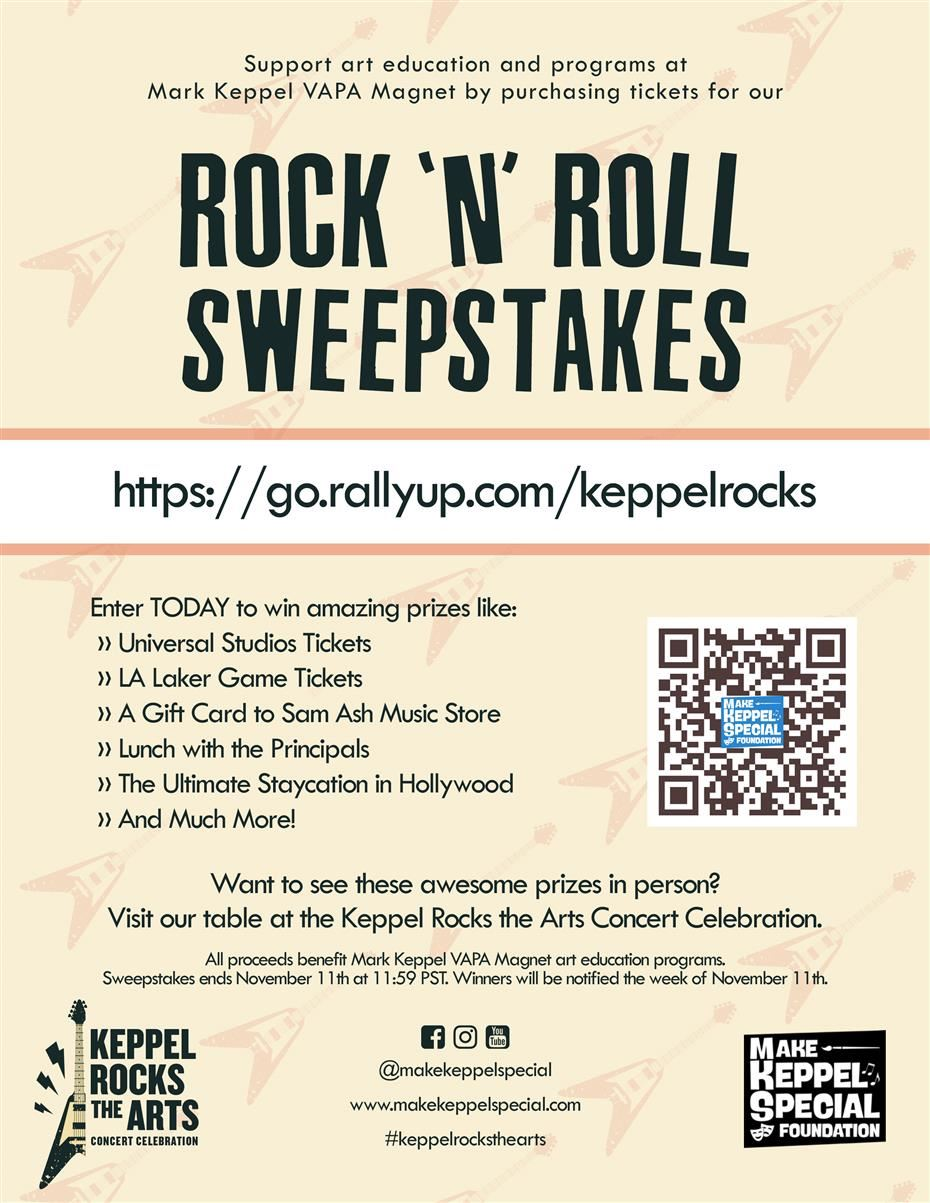 Keppel Rocks the Arts - Raffle Click this link:  https://go.rallyup.com/keppelrocks