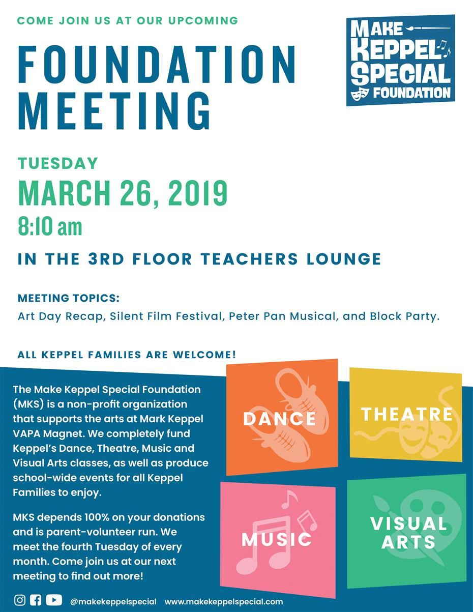 MKS March 26, 2019 Meeting Click Here for more information