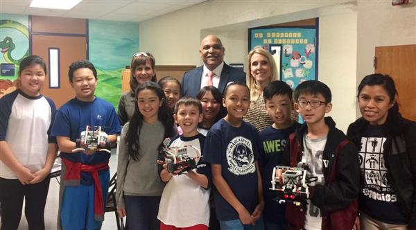 Superintendent Roberson and Robotics