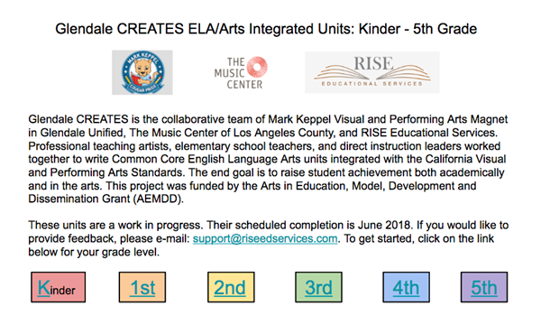ARTS INTEGRATED UNITS K-5