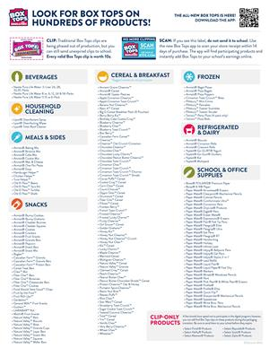Box Tops List