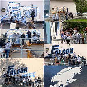NEW CVHS Falcon Music Band Room Mural by LC Heartshare
