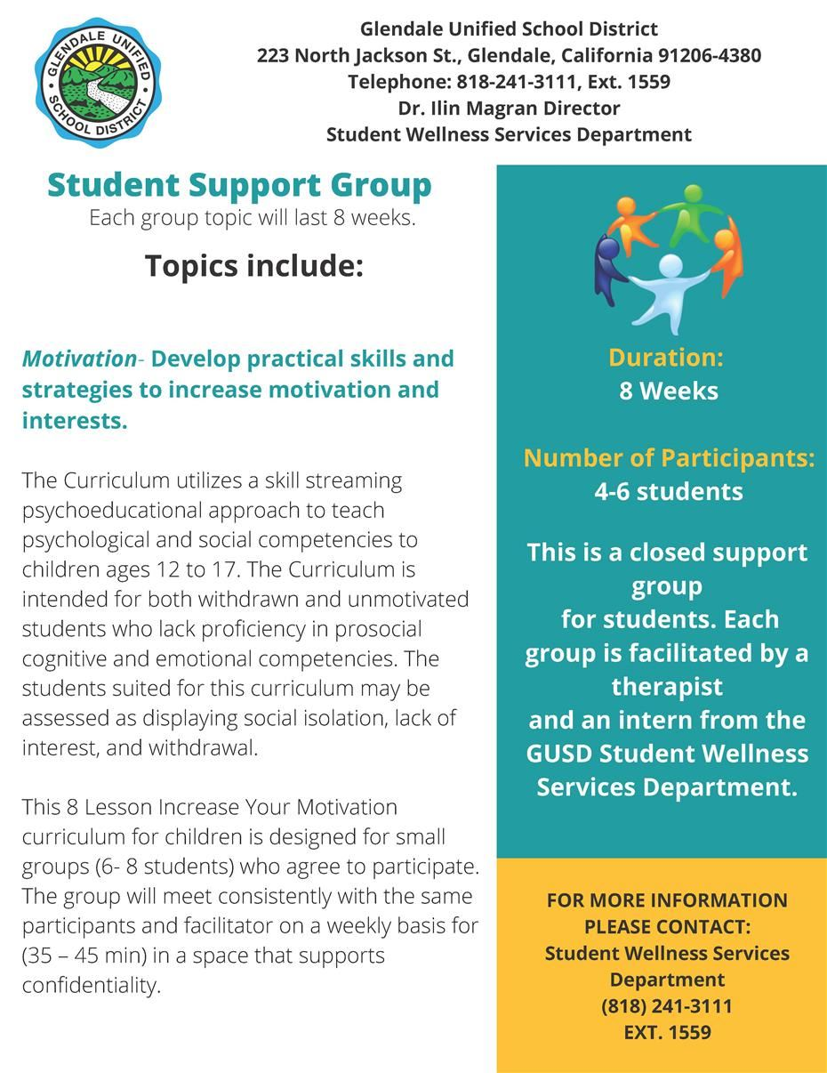 STUDENT SUPPORT GROUP