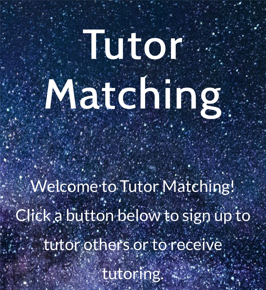 NEW CVHS Tutor Match Website