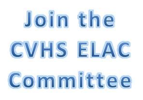 Join the CVHS ELAC Committee