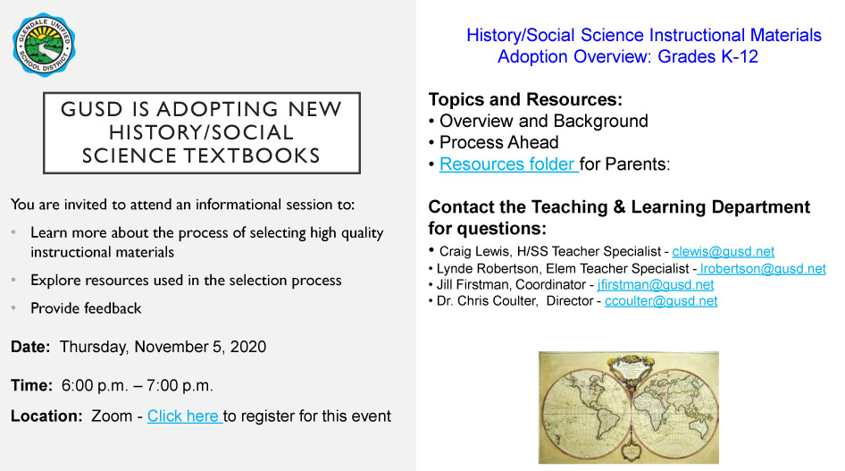 History/Social Science Instructional Materials Adoption Overview