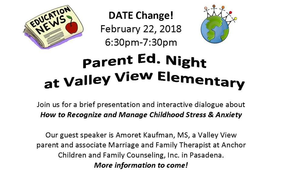 Valley View Parent Ed Night