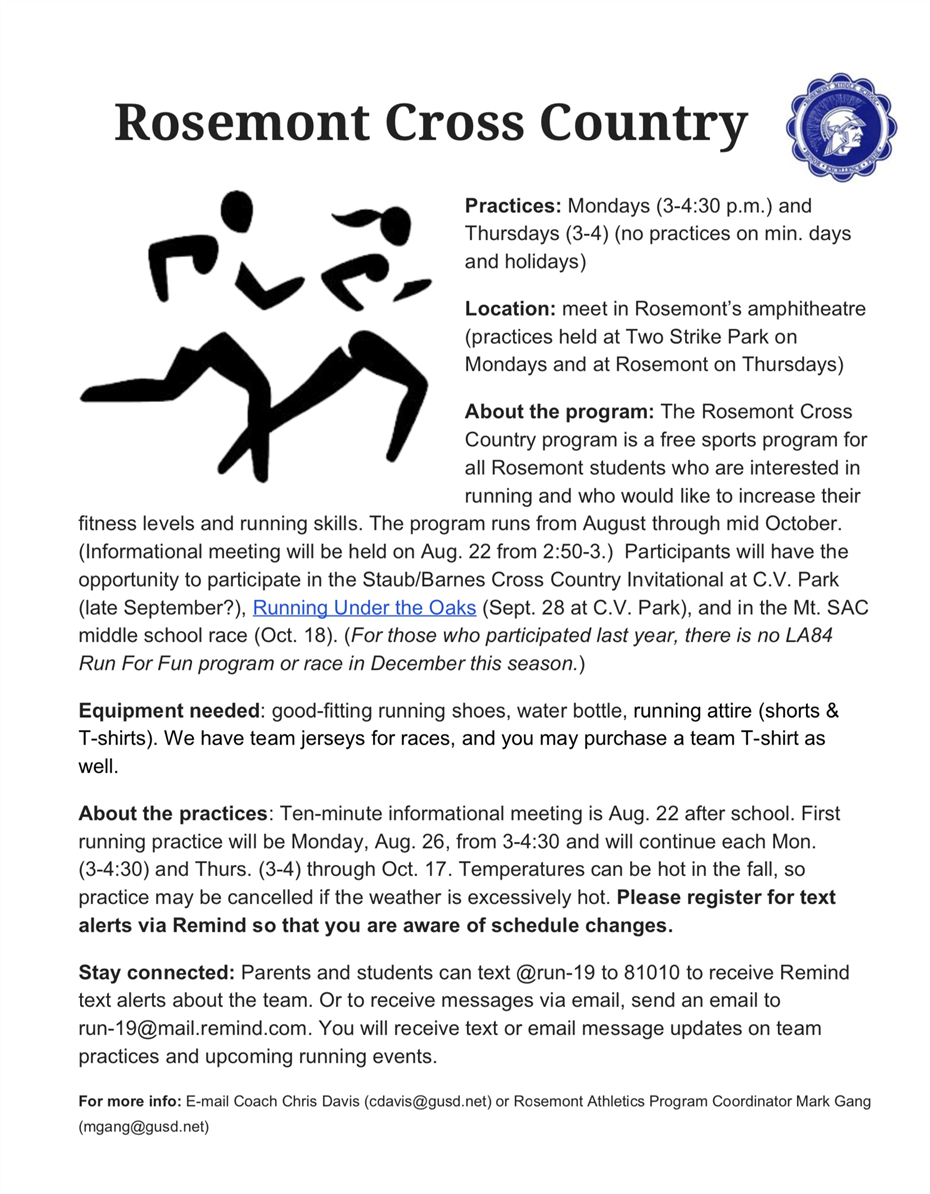 Rosemont Cross Country