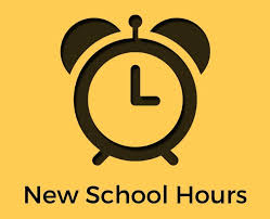 New School Hours:  Mon, Wed, Thu ,Fri  - 8:20am-2:35pm, Tue - 8:20am-1:20pm