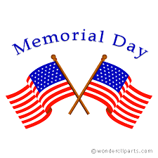 School will be closed on May, 27, 2019 in honor of Memorial Day.