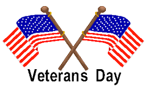 No School on November 12, 2018 in honor of Veteran's Day!