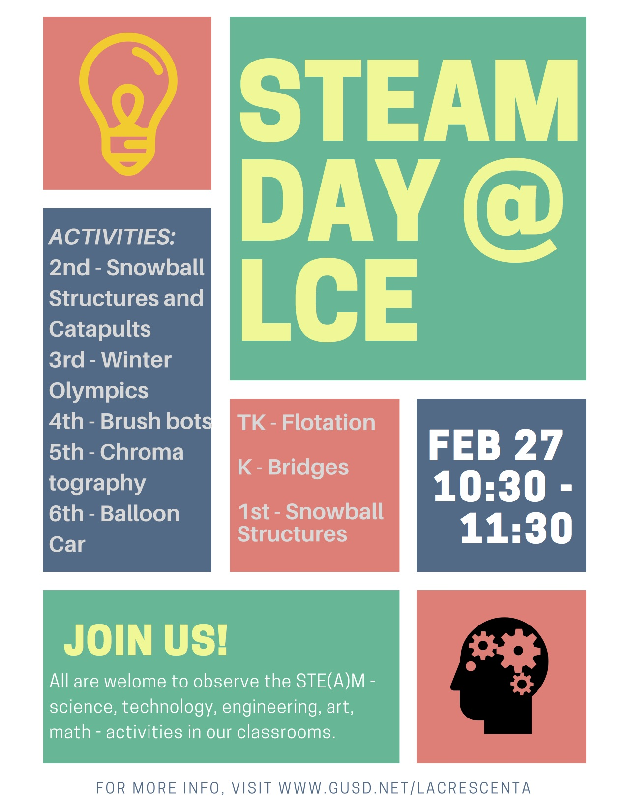 Join us for STEAM day!