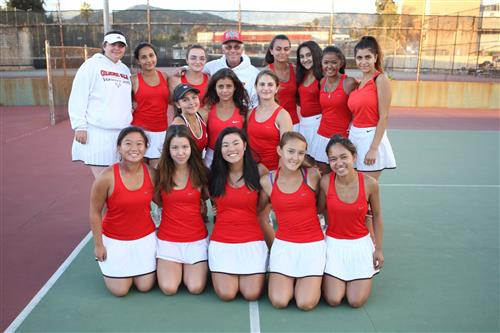 GHS Girls Tennis wins the Division IV CIF Championships after defeating Rancho Mirage at the finals