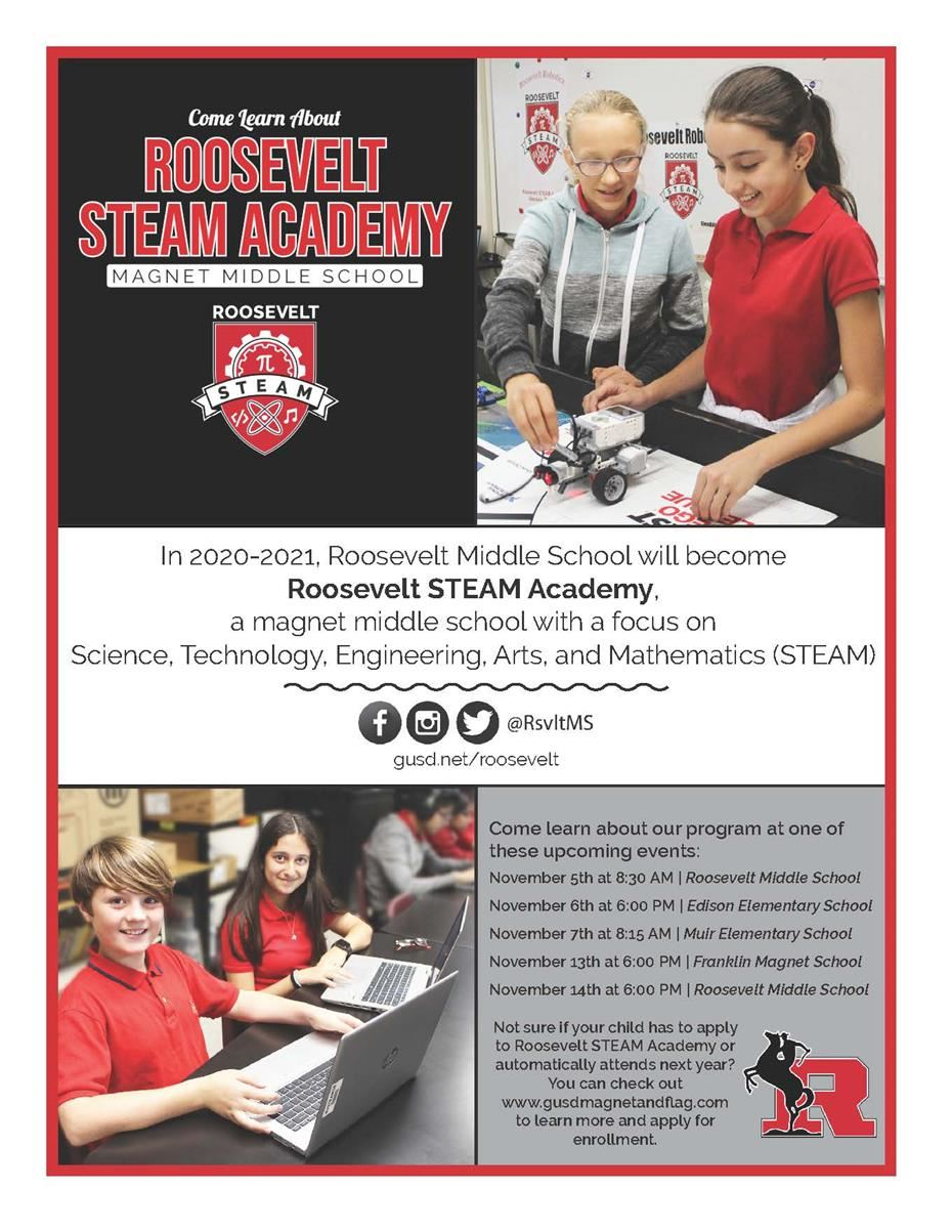 Come learn about our STEAM Academy