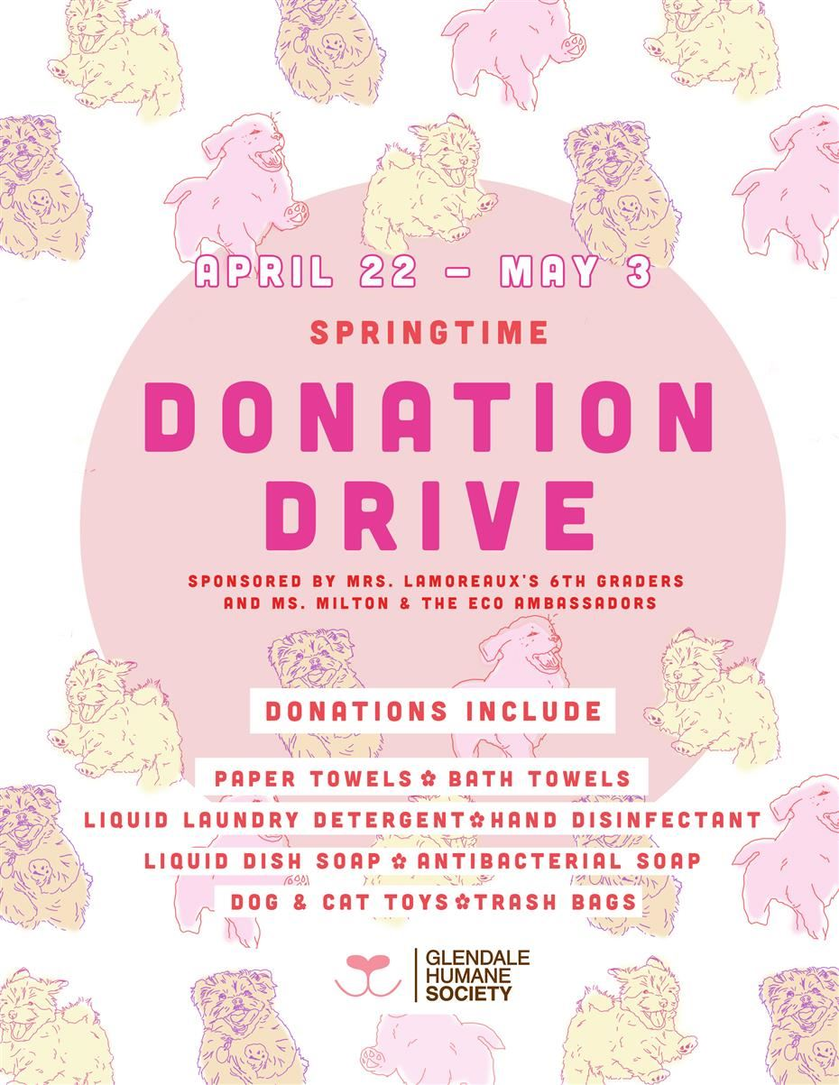 Spring Donation Drive for Glendale Humane Society