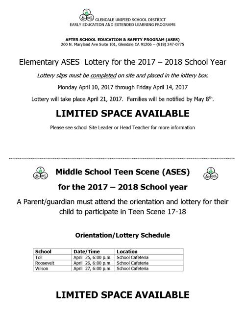 ASES Lottery Info
