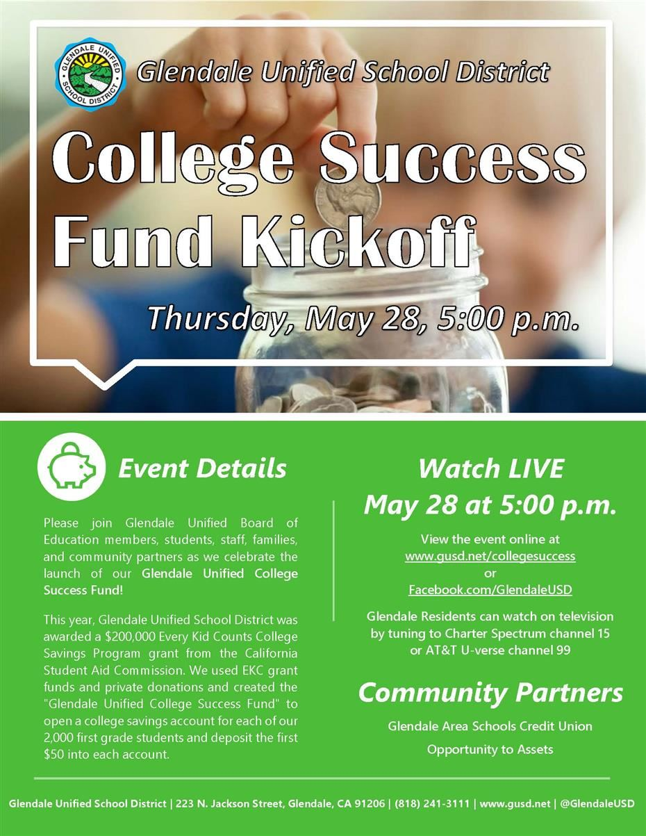 College Success Fund Kickoff