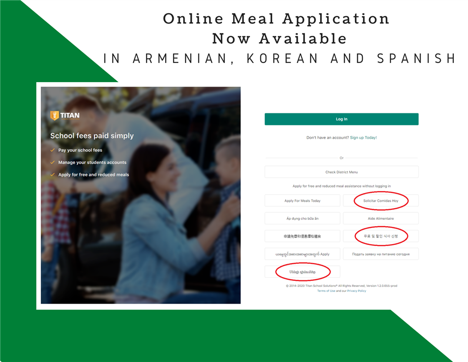 Online Meal Application Available in Armenian Korean and Spanish