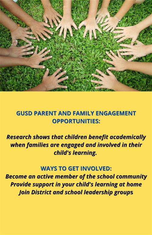 Parent and Family Engagement Opportunities