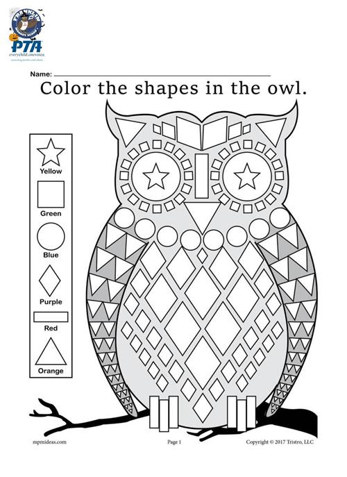 Owl Coloring sheet